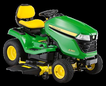 Traktor  JOHN DEERE X380 z agregatem tnącym Accel Deep 122 cm + Olej + Dostawa Gratis !!!!