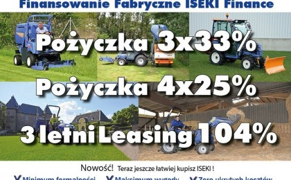 Finansowanie Fabryczne ISEKI Finance