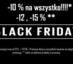 Wyprzedaż Black Friday 2018!!!