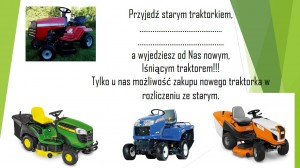 Promocja rozliczenia traktorka