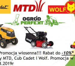 Promocja wiosenna MTD, CUB CADET i Wolf-Garten